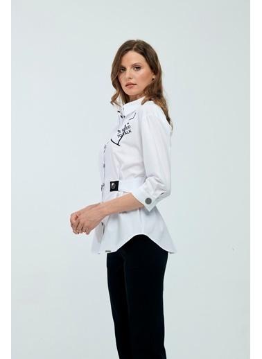 JEANNE D'ARC Bluz Beyaz